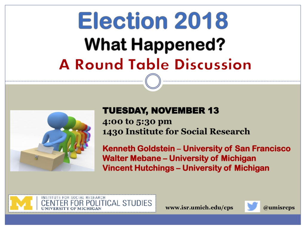 Election 2018: What Happened. Event takes place Nov. 13, 2018.